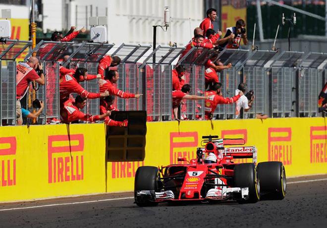 F1 - Hungria 2017 - Carrera - Sebastian Vettel - Ferrari