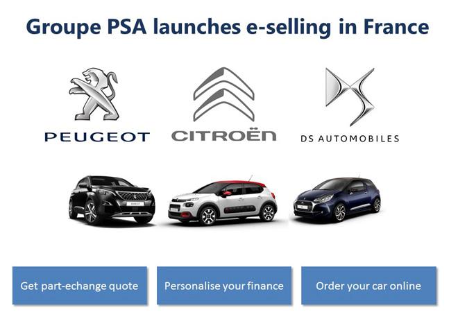 Grupo PSA es el primer fabricante europeo de automoviles en iniciar la venta online de vehiculos 0km en Francia