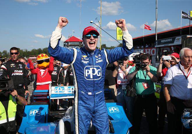 IndyCar - Mid-Ohio 2017 - Carrera - Josef Newgarden en el Podio