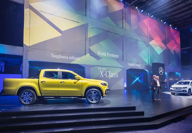 Mercedes-Benz produjo el lanzamiento mundial de la pick-up Clase X desde Ciudad del Cabo - Sudafrica