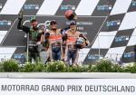 MotoGP - Sachsenring 2017 - Jonas Folger - Marc Marquez - Dani Pedrosa en el Podio