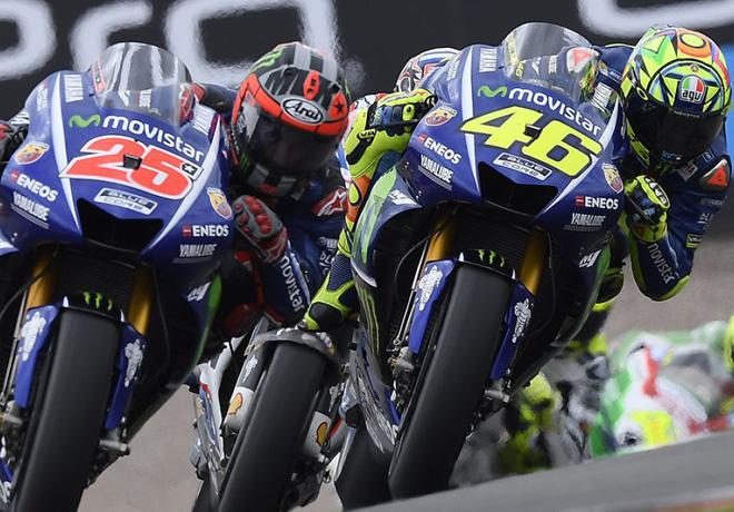 MotoGP - Sachsenring 2017 - Maverick Vinales y Valentino Rossi - Yamaha