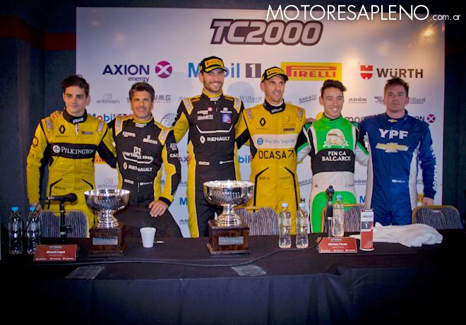 TC2000 - Buenos Aires II 2017 - Carrera - Luque-Spataro - Pernia-Ardusso - Ciantini-Llaver en la conferencia de prensa