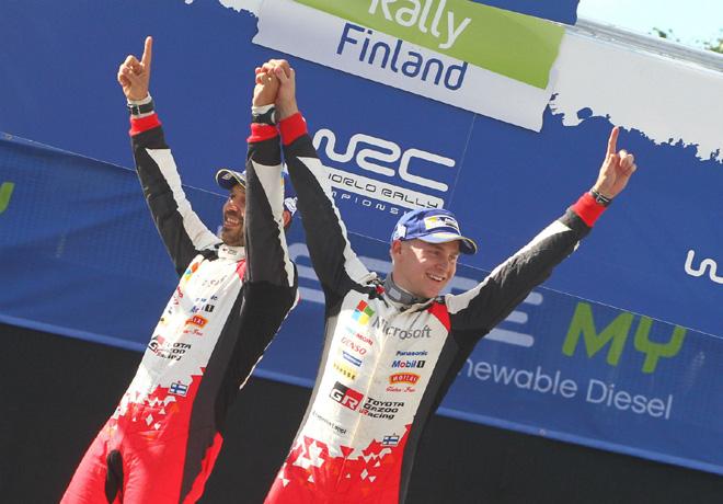 WRC - Finlandia 2017 - Final - Esapekka Lappi en el Podio