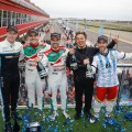 WTCC - Termas de Rio Hondo - Argentina 2017 - Carrera 2 - Thed Bjork - Norbert Michelisz - Tiago Monteiro - Esteban Guerrieri en el Podio