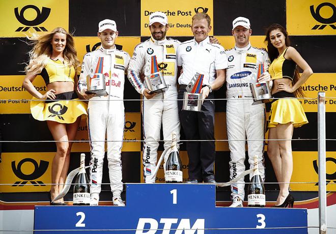 DTM - Zandvoort 2017 - Carrera 1 - Marco Wittmann - Timo Glock - Máxime Martin el Podio