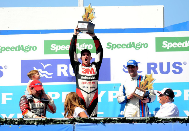 TC - Termas de Rio Hondo 2017 - Carrera - Norberto Fontana - Mariano Werner - Christian Ledesma en el Podio