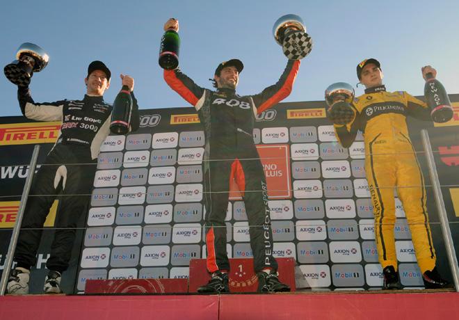 TC2000 - San Luis 2017 - Carrera Sprint - Marcelo Ciarrocchi - Hanna Abdallah - Manuel Luque en el Podio