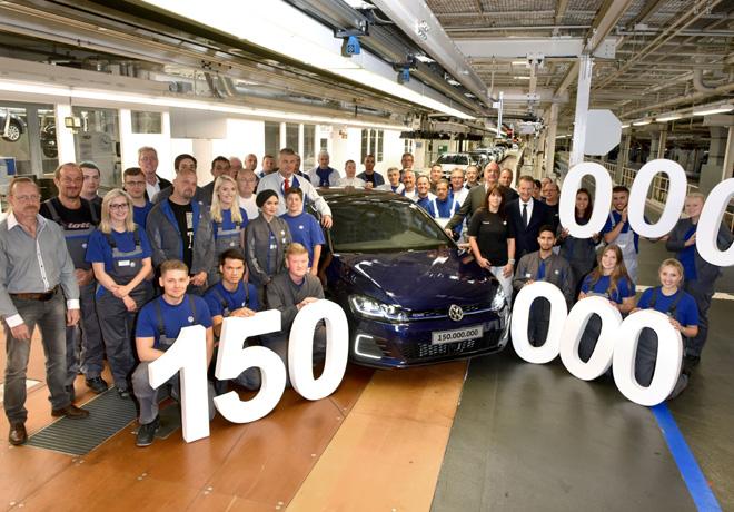 VW alcanza la produccion de 150 millones de vehiculos en el mundo