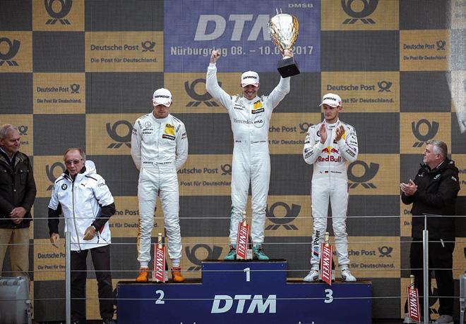 DTM - Nurburgring - 2017 - Carrera 2 - Paul di Resta - Robert Wickens - Marco Wittmann en el Podio
