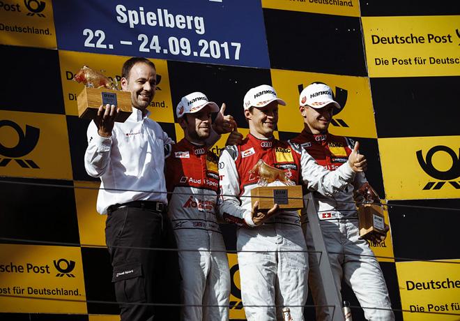 DTM - Spielberg 2017 - Carrera 1 - Jamie Green - Mattias Ekstrom - Nico Muller - en el Podio