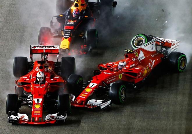 GP de Singapur de Fórmula 1 – Carrera: Hamilton aprovechó el regalo de Ferrari.