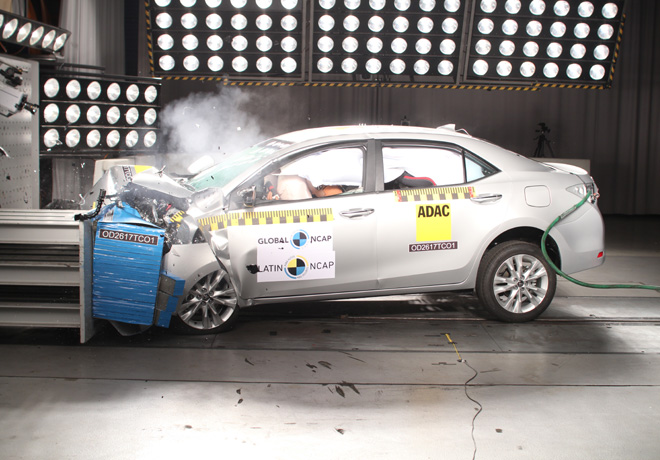 Latin NCAP - Toyota Corolla - con 7 Airbags