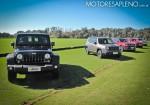 Lineup de Jeep en la presentacion del nuevo Compass