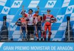 MotoGP - Aragon 2017 - Dani Pedrosa - Marc Marquez - Jorge Lorenzo en el Podio