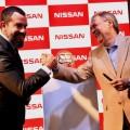 Saludo de Diego Vignati -Director General de Nissan Argentina- y Juan Schiaretti - Gobernador de Cordoba