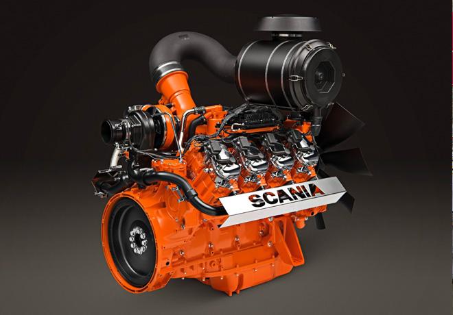 Scania - Motor V8 a gas