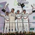 WEC - 6 hs de Mexico 2017 - Brendon Hartley - Timo Bernhard - Earl Bamber en el Podio