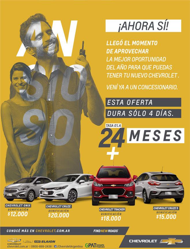 Chevrolet - Ahora si - Reabren Concesionarios 2017