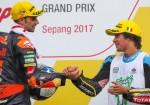 Moto2 - Sepang 2017 - Miguel Oliveira y Franco Morbidelli en el Podio