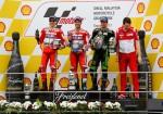 MotoGP - Motegi 2017 - Jorge Lorenzo - Andrea Dovizioso - Johann Zarco en el Podio