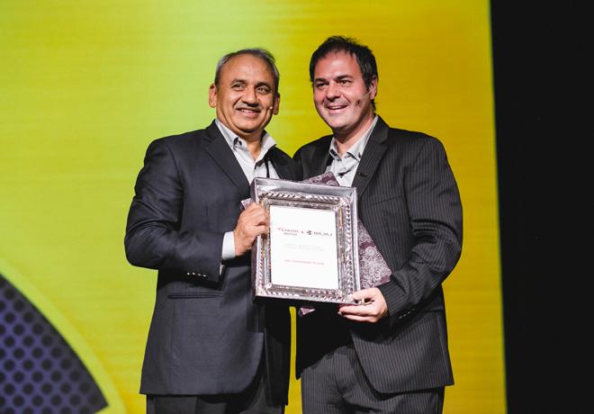 Rakesh Sharma - Presidente de Bajaj Auto LTD - junto a Leandro Iraola - Presidente de Grupo Iraola
