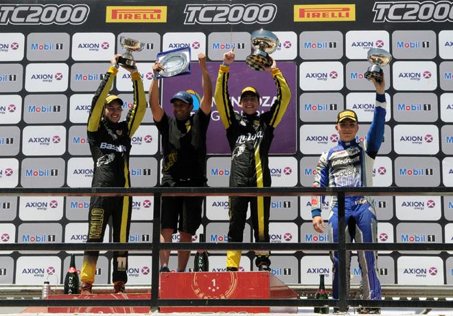 TC2000 - San Martin - Mendoza 2017 - Carrera Final - Santiago Mallo - Tomas Gagliardi Genne - Jorge Vitar en el Podio