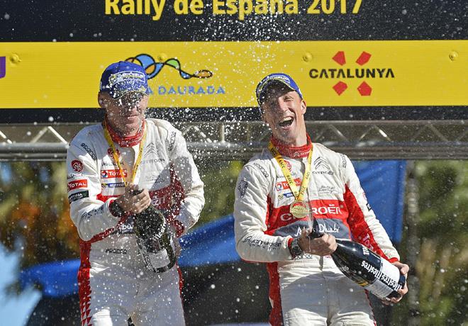 WRC - Catalunya 2017 - Final - Kris Meeke en el Podio
