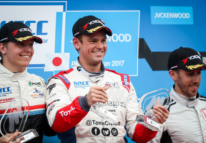 WTCC - Motegi - Japon 2017 - Carrera 1 - Yann Ehrlacher - Tom Chilton - Esteban Guerrieri en el Podio
