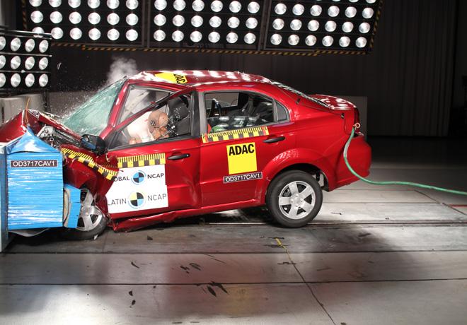 Latin NCAP - Chevrolet Aveo - con 2 Airbags