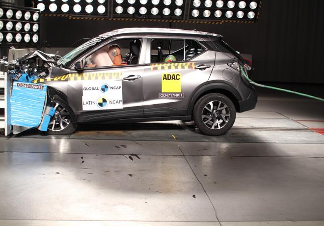 Latin NCAP - Nissan Kicks - con 2 Airbags