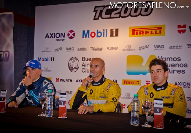 TC2000 - Buenos Aires III 2017 - Clasificacion - Sebastián Martinez - Mariano Pernia - Gabriel Gandulia en la conferencia de prensa