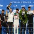 WTCC - Losail - Qatar 2017 - Carrera 2 - Rob Huff - Tiago Monteiro - Esteban Guerrieri - Thed Bjork - Nicky Catsburg en el Podio