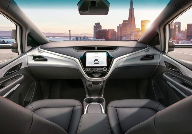 GM presenta el Cruise AV, el primer vehículo autónomo listo para producir, sin volante ni pedales.