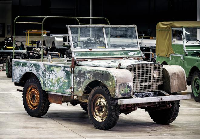 Land Rover - 70mo aniversario - comienza la restauracion de un 4x4 original 1