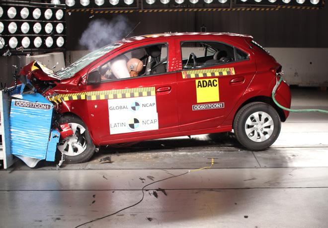 Latin NCAP - Chevrolet Onix-Prisma - con 2 Airbags