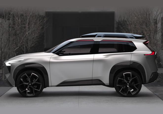 Nissan Xmotion Concept hace su debut en el Salón Internacional del Automóvil de Norteamérica 2018.