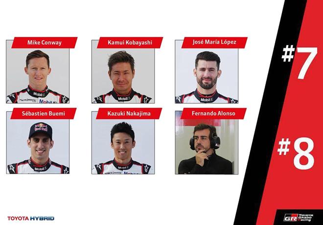 WEC - Toyota Gazoo Racing confirma a sus pilotos 2018
