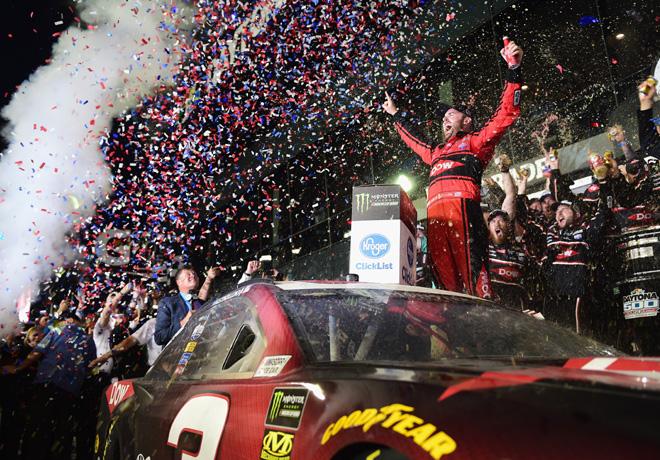 NASCAR - Daytona 2018 - Austin Dillon en el Victory Lane