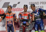 MotoGP - Qatar 2018 - Marc Marquez - Andrea Dovizioso - Valentino Rossi en el Podio