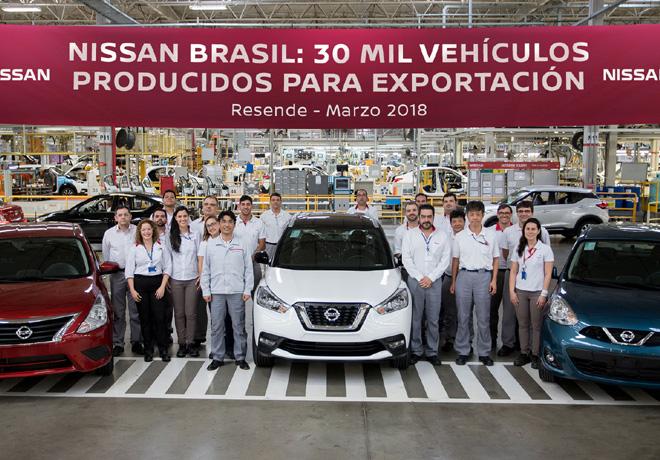 Nissan Brasil alcanza la marca de 30.000 vehiculos producidos para exportacion