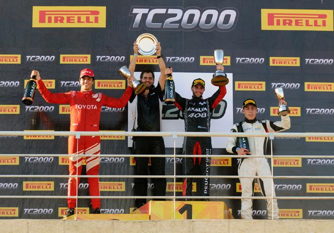 TC2000 - Concepcion del Uruguay - Entre Rios 2018 - Carrera Sprint - Juan Cruz Acosta - Agustin Lima Capitao - Tomas Gagliardi Genne en el Podio