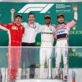 F1 - Azerbaiyan 2018 - Carrera - Kimi Raikkoinen - Lewis Hamilton - Sergio Perez en el Podio