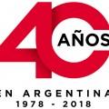 Logo Honda 40 Anios en Argentina 1978-2018