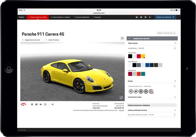Porsche presenta en Argentina el Car Configurator con precios locales.