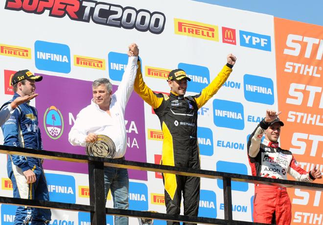 STC2000 - San Martin - Mendoza 2018 - Final - Agustin Canapino - Facundo Ardusso - Matias Rossi en el Podio