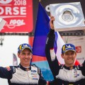 WRC - Corcega 2018 - Final - Sebastien Ogier en el Podio
