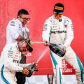 F1 - Espana 2018 - Carrera - Lewis Hamilton y Valteri Bottas en el Podio