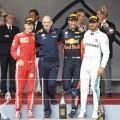 F1 - Monaco 2018 - Carrera - Sebastian Vettel - Daniel Ricciardo - Lewis Hamilton en el Podio