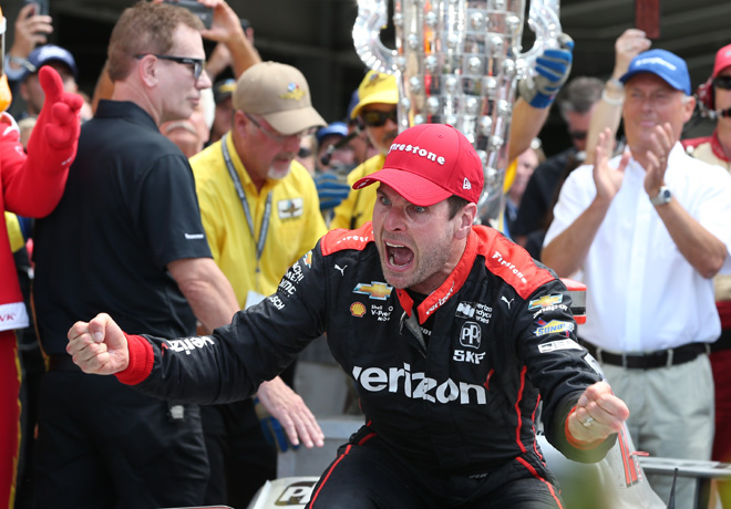 IndyCar - Indianapolis 500 2018 - Will Power en el Victory Lane